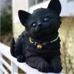かわいい猫の置物♪小さいので玄関やインテリア・ガーデニングにも!