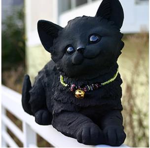 かわいい猫の置物(伏せ)