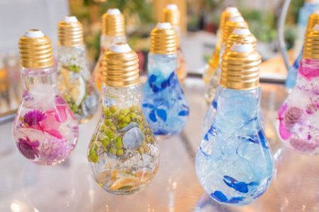 ハーバリウムの小瓶たち