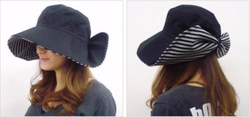 UVカット帽子のリボン部分