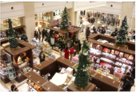 クリスマスの店内