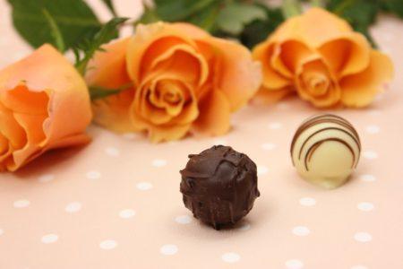 薔薇とトリュフチョコ