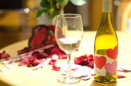 バレンタインのワイン